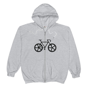 Back the F | Dark | Unisex  Zip Hoodie - BikeMondo