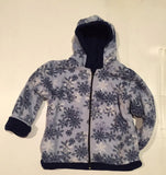 ZooFleece Kids Reversible HeavyWeight Hooded Comfortable Blue Snowflake Toddler Fleece Children Baby Jacket Winter Best Friend Gift Birthday