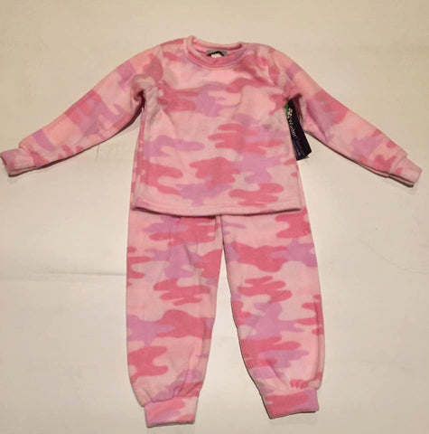 Kids Girls Plush Comfortable Pink Camouflage Fleece PJ's Winter Warm Pajamas Best Friend Gift Birthday Children