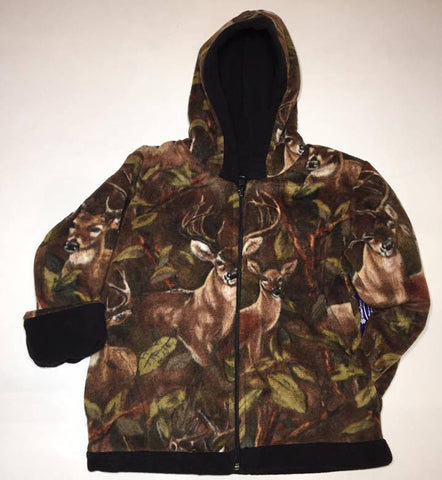 ZooFleece Kids Brown Deer Camouflage Unisex Baby Jacket Gift Toddler Buck Hunting