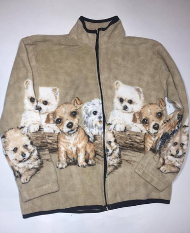 ZooFleece Beige Dogs Puppies Jacket Gift Ugly Sweater Funny Sweater Christmas xmas