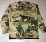 ZooFleece Carousel Horse Green Fleece Sweater Rustic Animal Crossing Mint Green Vintage Horse Tack Rocking Horse Wall Art