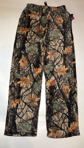 ZooFleece Pants Mossy Forest Super Comfortable Brown Tree Camouflage Fleece Sweats Gift S-3X