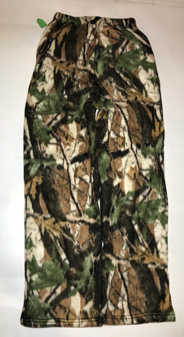 ZooFleece Pants Mossy Forest Super Comfortable Green Tree Camouflage Fleece Sweats Gift S-3X
