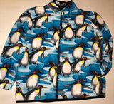 ZooFleece Emperor King Penguins Fleece Jacket Winter Warm Skiing Happy Feet Bird Gift Birthday Ugly Sweater Funny Sweater Christmas xmas
