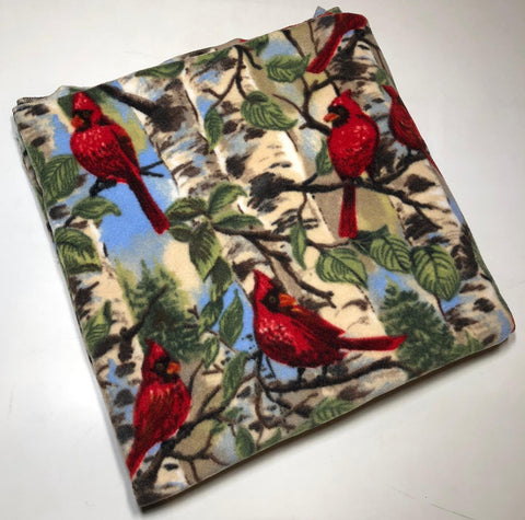 "ZooFleece Cardinals Polar Fleece  60X60"" Blanket Quilt Throw Linen Comfortable Best Friend Gift Birthday Christmas"