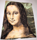 "ZooFleece Mona Lisa Art Fleece Leonardo Da Vinci 45X55"" Blanket Quilt Throw Linen Best Friend Gift Birthday"