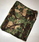 "ZooFleece Green Tree Camo Camouflage Hunting Forest Sport Fleece 60X68"" Blanket Quilt Throw Linen Best Friend Gift Birthday"