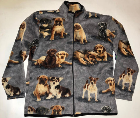 ZooFleece Dogs Cute Puppies Gray Fleece Beagle Beagles Jacket Best Friend Gift Birthday Sweater Funny Sweater Christmas xmas
