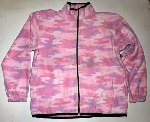 ZooFleece Snow Pink Camouflage Fleece Jacket Winter Warm Best Friend Gift Birthday Ugly Sweater Funny Sweater Christmas xmas