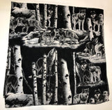 "ZooFleece  60X60"" Blanket Quilt Throw Wolves Howling Moon Linen Comfortable Black Best Friend Gift Birthday"