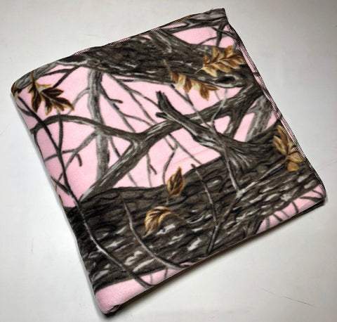 "ZooFleece  60X60"" Pink Camo Hunting Girls Blanket Quilt Throw Linen Comfortable Gift Birthday"