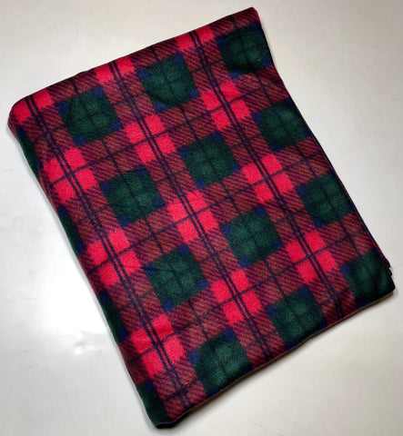 "ZooFleece Red Plaid 60X68"" Blanket Quilt Green Christmas Throw Best Friend Gift Birthday"