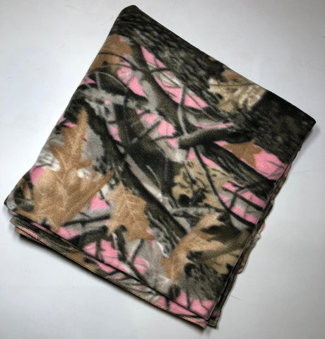 "ZooFleece Pink Camo Hunting Girls Camouflage Blanket Quilt Throw 60X60"" Linen Comfortable Gift Birthday"