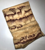 "ZooFleece Yellow Deer Buck Antlers Blanket Animal Hunt Quilt Throw 42X60"" Linen Comfortable"