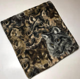 "ZooFleece Camo Wolf 60X60"" Blanket Quilt Throw Wolves Howling Brown Linen"