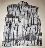 ZooFleece Snow White Birch Camo Camouflage Hunting Vest S-3X