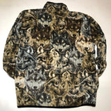 ZooFleece Wolf Fleece Jacket Gift Brown Ugly Funny Sweater Christmas xmas