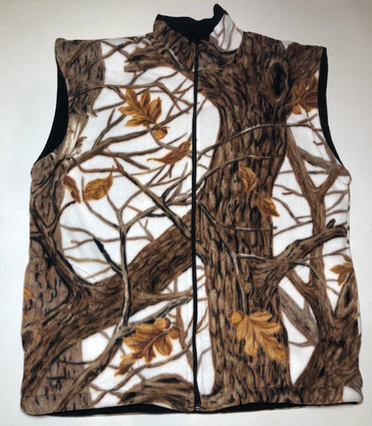 ZooFleece White Snow Camouflage Hunting Vest S-3X