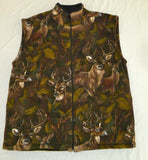 ZooFleece Deer Camouflage Animal Buck Antlers Hunting Vest S-3X