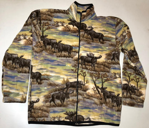 ZooFleece Moose Winter Fleece Jacket Ugly Sweater Funny Sweater Christmas xmas S-2XL