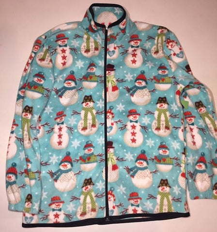 ZooFleece Snowman Fleece Christmas Jacket Gift Ugly Sweater Funny Xmas For Her
