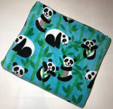 "ZooFleece Panda Bear Giant Pandas Coon Bear Bamboo Muncher Blanket White Black Animal Quilt Throw 55X60"" Linen Comfortable"