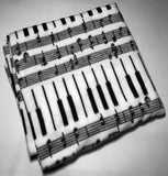 "ZooFleece Music Notes Piano Melody Song Tune Harmony Lyric Composition Blanket White Quilt Throw 55X60"" Linen Comfortable"