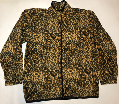 ZooFleece Leopard Cheetah Animal Print Fleece Jacket Best Friend Gift For Her Birthday Ugly Sweater Funny Sweater Christmas xmas