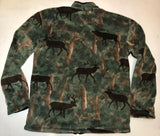 ZooFleece Green Elk Camouflage Animal Buck Antlers Hunting Jacket Sweater S-2X