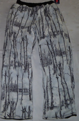 ZooFleece Super Comfortable Birch White Snow Tree Camouflage Fleece Pants Sweats Gift