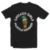Chicago Girls Hustle Harder Women's Fitted Tee