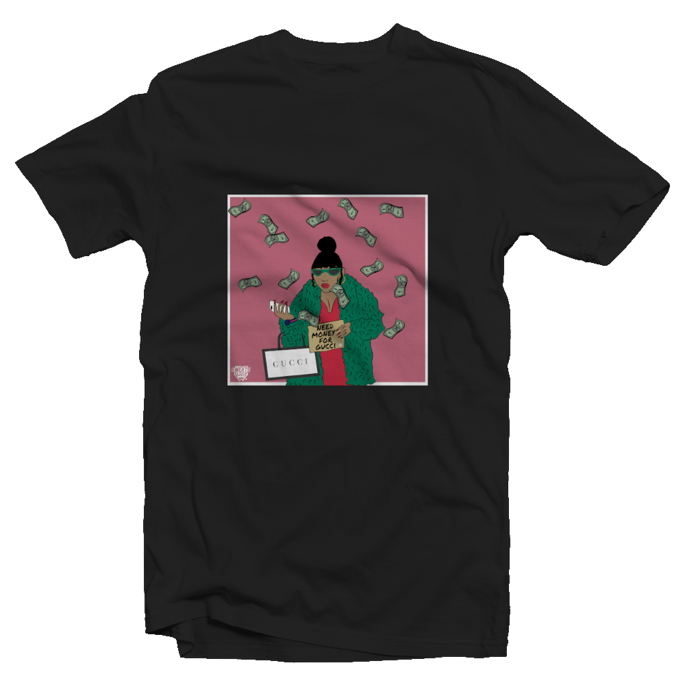 """Need Money For Gucci"" Women's Fitted Tee"