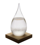 Storm Glass Crystal. Weather Forecast Barometer Station