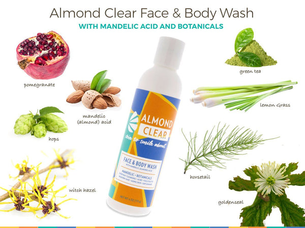 Almond Clear Face & Body Wash | NEW! Almond Clear