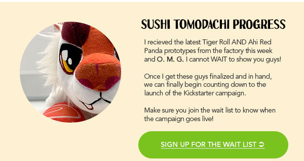 Sign up for the Sushi Tomodachi plush toy wait list