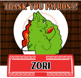 Thank you for your patronage, Zori!