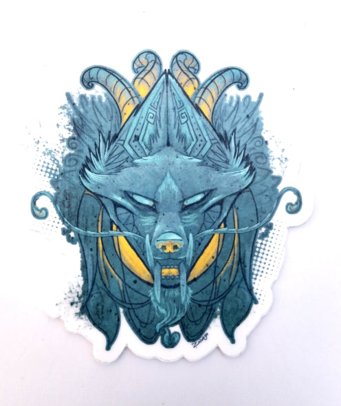 Jackal Sticker