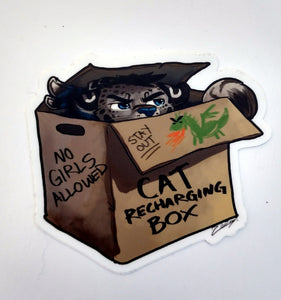 Cat Recharging Box Sticker