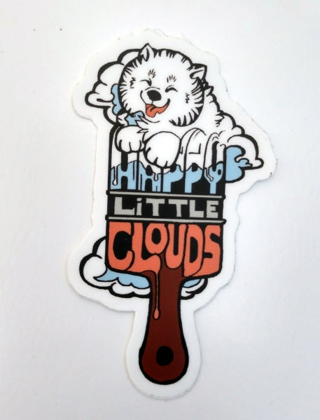Happy Little Cloud - Paintbrush Sticker