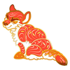 Sushi Tomodachi | Tiger Roll Hard Enamel Pin