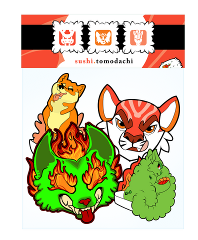Sushi Tomodachi | Sticky Rice Sticker Pack