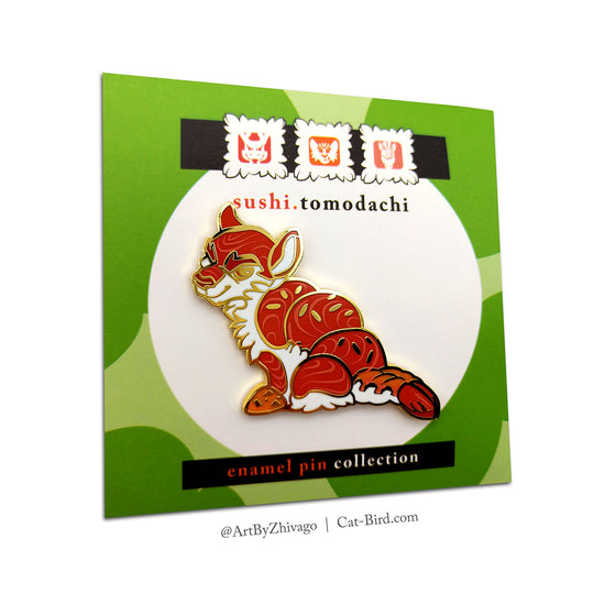 Sushi Tomodachi Tiger Roll Hard Enamel Pin