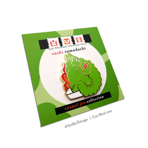 Sushi Tomodachi | Wasabi Cat Enamel Pin