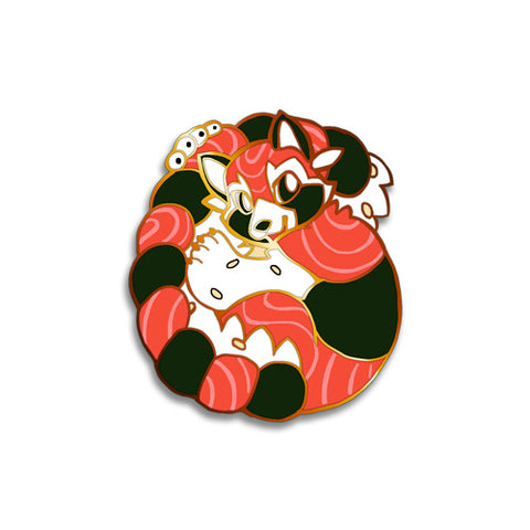 Sushi Tomodachi | Ahi Red Panda Hard Enamel Pin