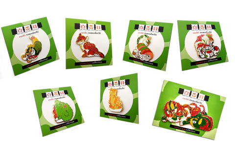 Sushi Tomodachi | First Course Complete Enamel Pin Set