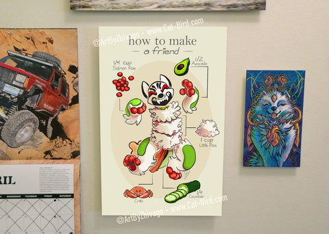 How to Make a Friend 11x17 Poster Print