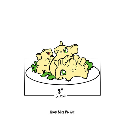 Sushi Tomodachi | Gyoza Mice Pin Art Sticker