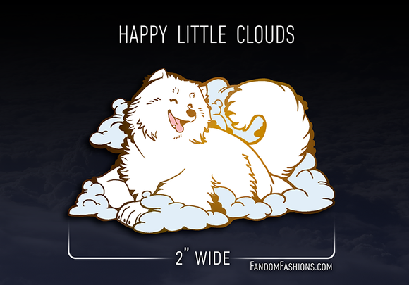 [PREORDER] Happy Little Cloud Samoyed Pin