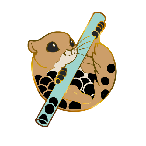 Sushi Tomodachi | Milk Tea Momonga Hard Enamel Pin